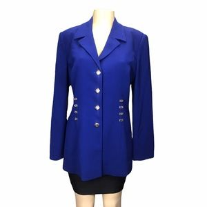Griffith Gray for St John Royal Blue Long Blazer